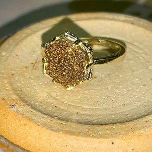 💕Kendra Scott golden druzy ring Size 6